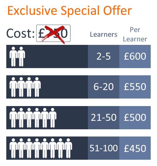 Exclusive Special Offer In-house assessor training