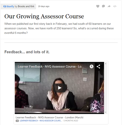 Our Growing Assessor Course