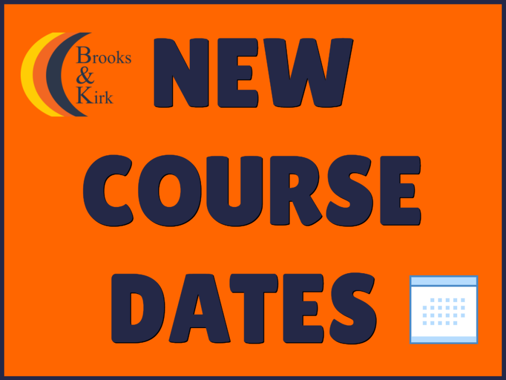 new course dates