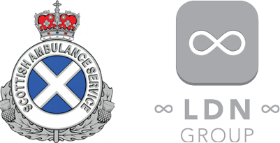 Scottish Ambulance Service and LDN Group's Logos