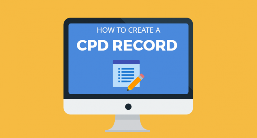 How to create a cpd record (1)