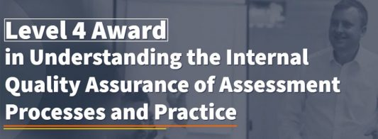 This is the most basic IQA course. This course does not qualify you to internally quality assure assessment.   However, it does provide you with the theory behind internally quality assurance making it an ideal CPD course for managers.