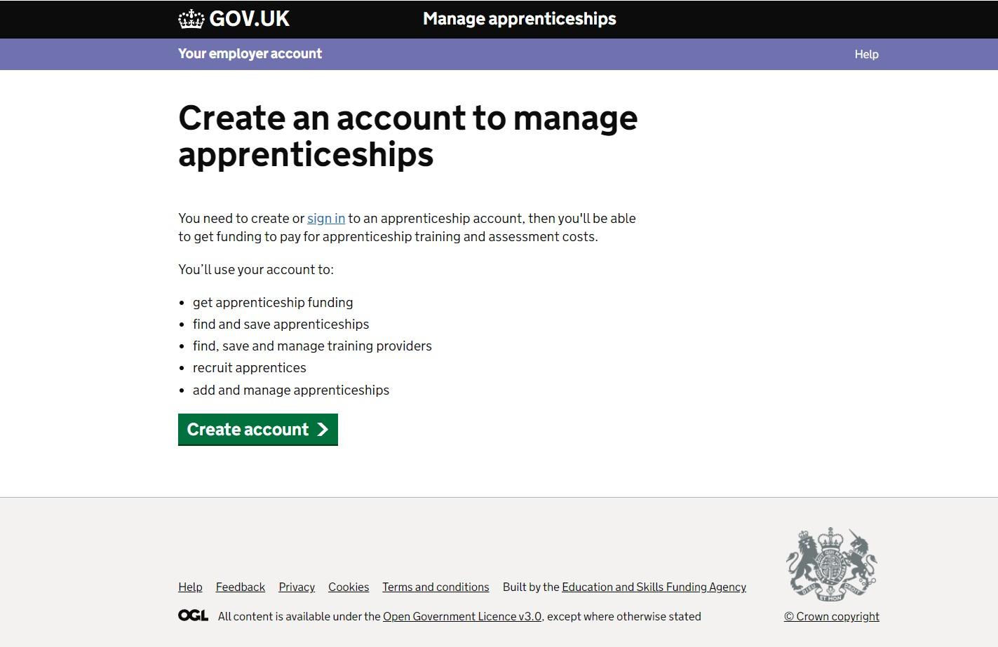 create a digital account